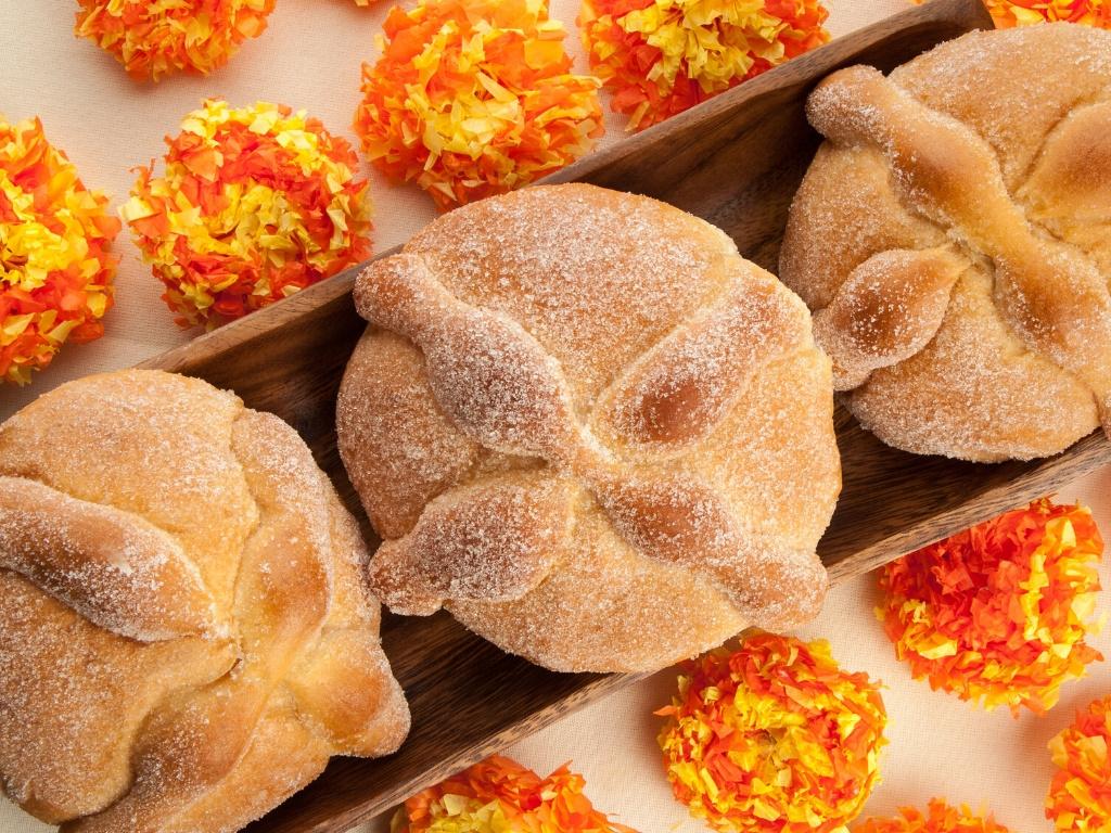 día de muertos pan de muerto