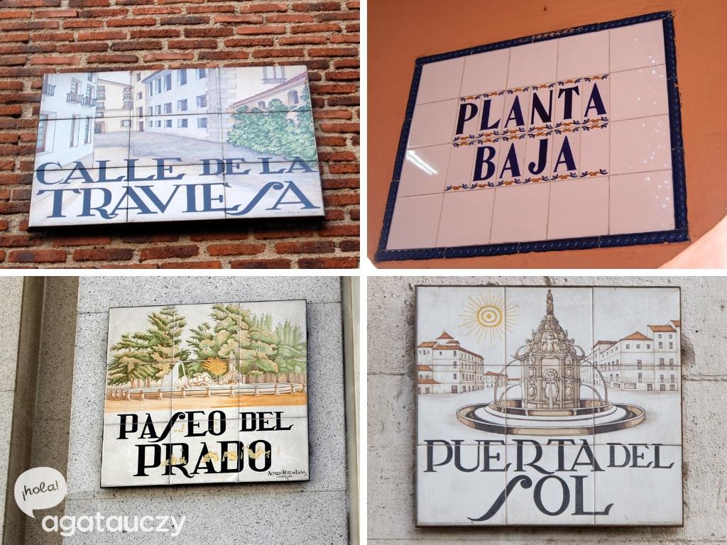 azulejos często pełnią rolę tabliczek informacyjnych