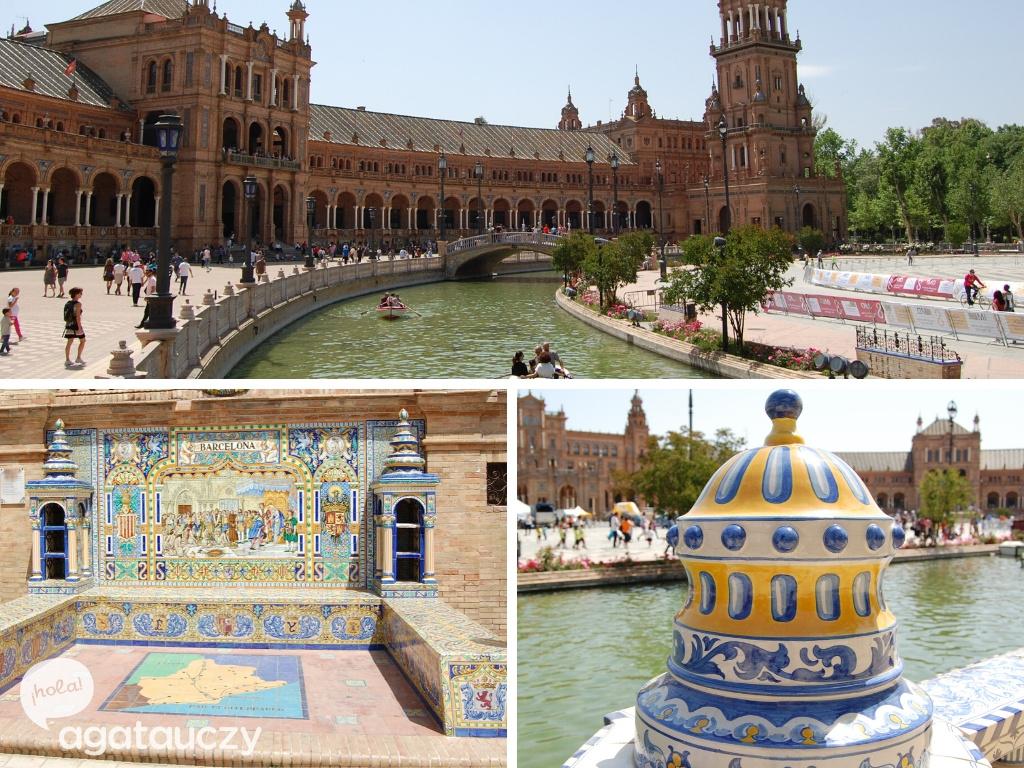 azulejos w sewilla plac hiszpański